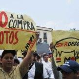 Veracruz. Trabajadores conmemoran el Día del Trabajo. Foto: Miguel Ángel Carmona
