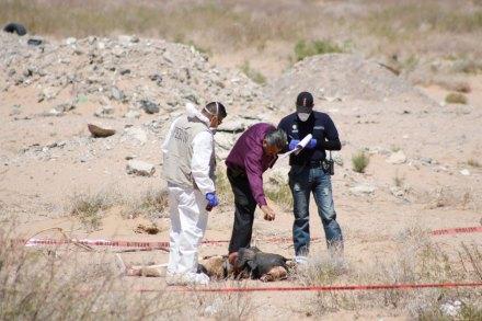 El hallazgo de un cuerpo en Ciudad Juárez. Foto: Ricardo Ruiz