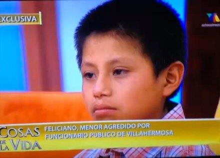 Feliciano Díaz Díaz, el niño que vendía chicles en Tabasco. Foto: Tomada de Youtube