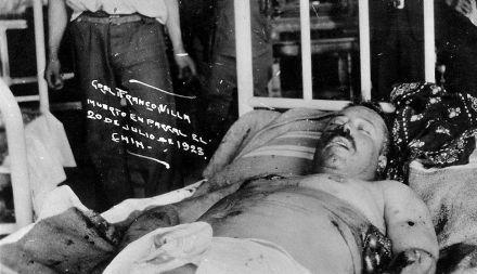 El cuerpo de Villa en el Parral, el 20 de julio de 1923. Foto: Especial