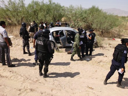 La escena de un asesinato el 29 de mayo pasado en Durango. Foto: Joaquín Campos