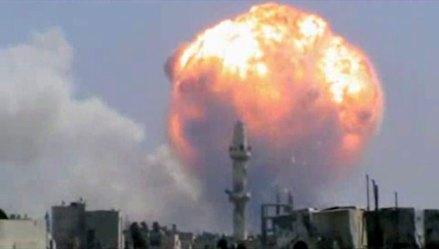 Explosión en depósito de armas en Homs, Siria, deja 40 muertos y 120 heridos. Foto: AP