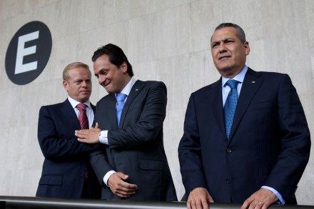Escobar, Lozoya y Beltrones. Pactan privatización de Pemex. Foto: Eduardo Miranda