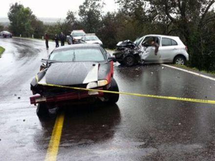 La escena del accidente. Foto: Especial.
