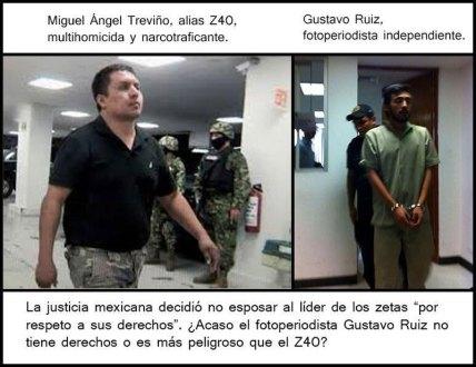 El fotógrafo Gustavo Ruíz después de rendir su declaración. Foto: Tomada de Twitter