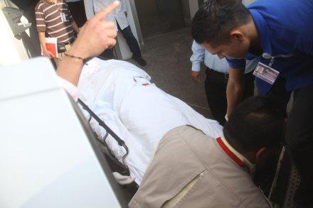 El cuerpo del diputado. Foto: Enrique Castro
