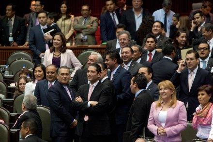 La bancada del PRI en la Cámara de Diputados. Foto: Eduardo Miranda