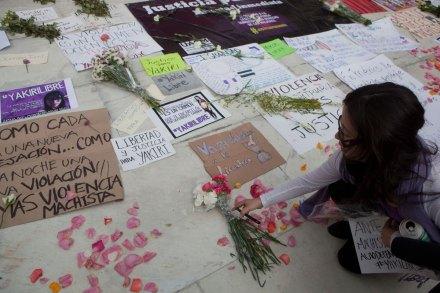 Familiares y amigos de Yakiri exigen su liberación. Foto: Octavio Gómez