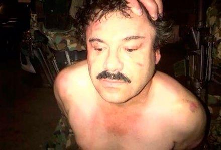 """Imagen difundida por The New York Times de la detención de Joaquín """"El Chapo"""" Guzmán. Foto: NYT"""