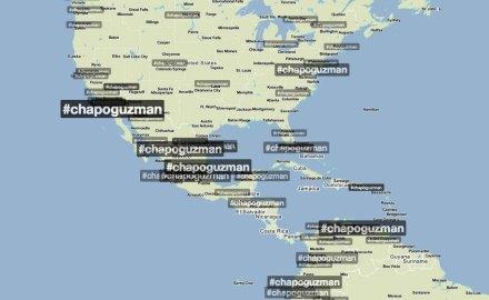 #ChapoGuzmán. Trending topic mundial. Foto: TrendsMap