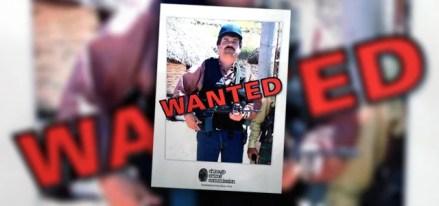 """Un póster en la Comisión del Crimen de Chicago con la leyenda """"Se busca"""" delante de la imagen de """"El Chapo"""". Foto: AP"""