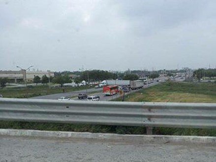 Uno de los bloqueos reportados en Tamaulipas. Foto: Valor por Tamaulipas