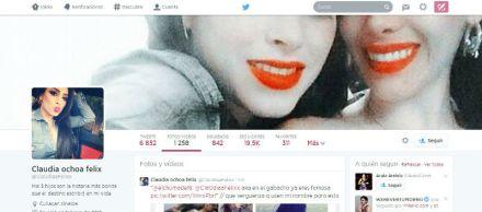 La cuenta @ClaUdiaaFelixx en Twitter.