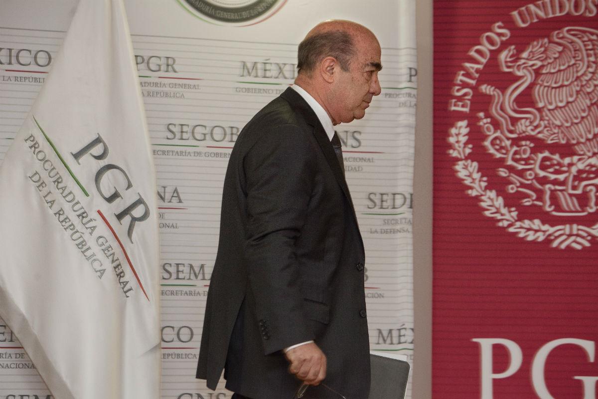 El ahora exprocurador Murillo Karam. Foto: Miguel Dimayuga