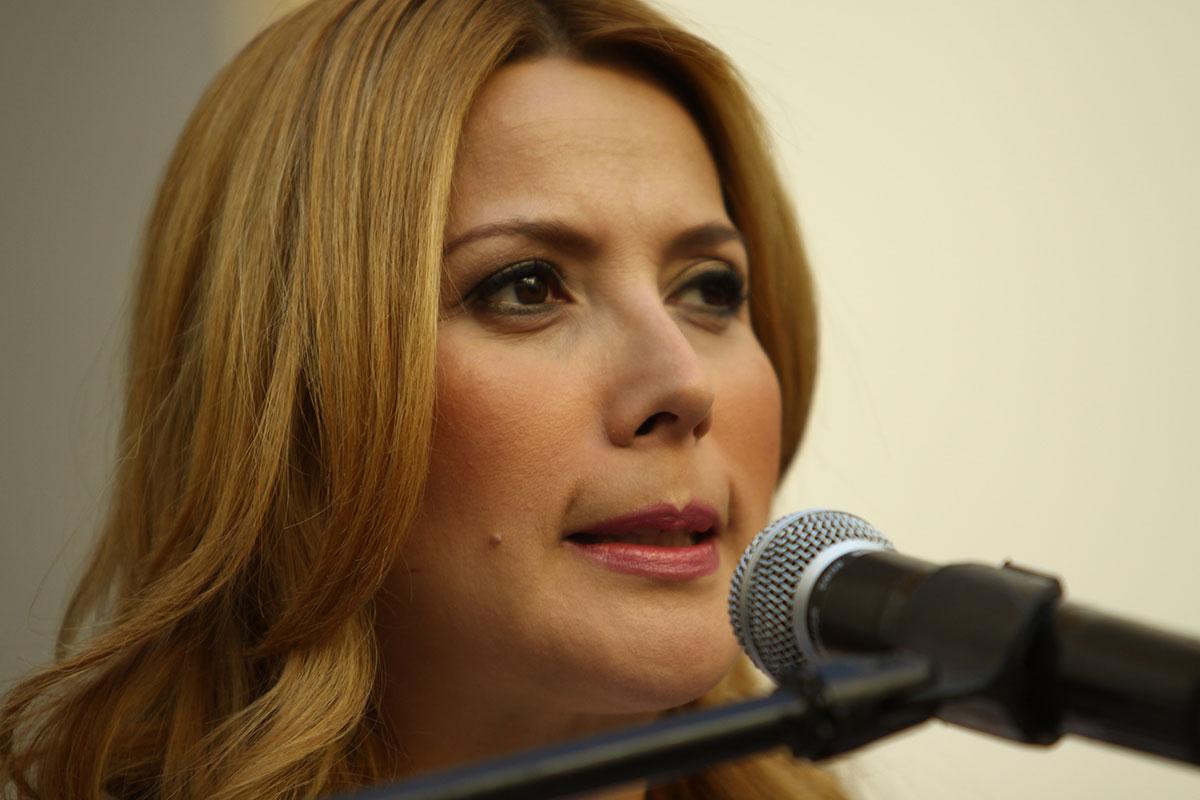 Margarita Arellanes, alcaldesa de Monterrey. Foto: Víctor Hugo Valdivia