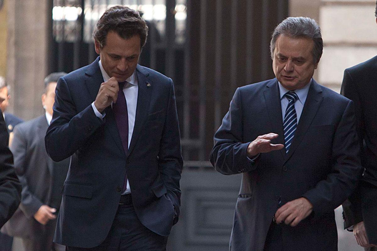 Lozoya y Coldwell, director de Pemex y titular de la Sener, respectivamente. Foto: Germán Canseco