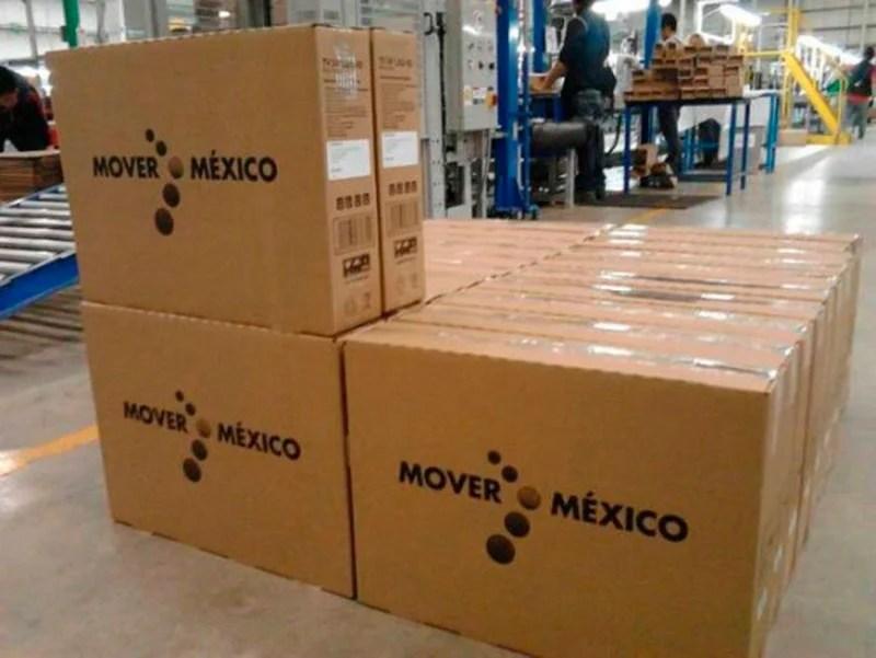 Los televisores entregados por el gobierno federal. Foto: Especial