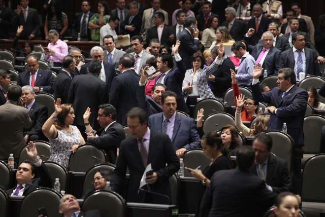 Sesión en la Cámara de Diputados. Foto: Benjamin Flores