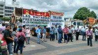La protesta de los constructores en Chiapas. Foto: Especial