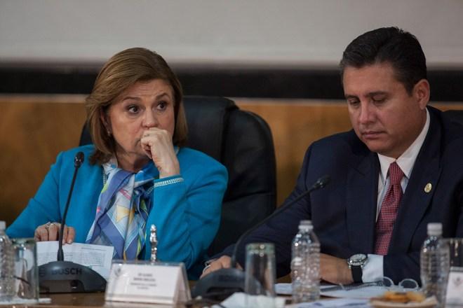 La procuradora Arely Gómez durante su comparecencia en San Lázaro. Foto: Octavio Gómez