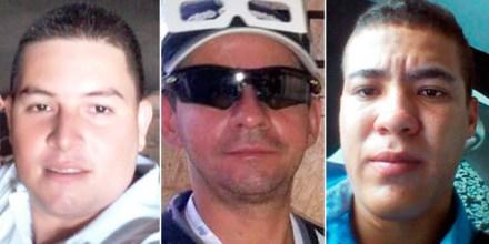 Carlos Arturo Marulanda Orozco, Francisco Javier Agudelo Gómez y Carlos Andrés Mejía Contreras. Fotos: El Tiempo
