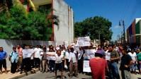 Ejidatarios protestan en Valladolid, Yucatán. Foto: Especial