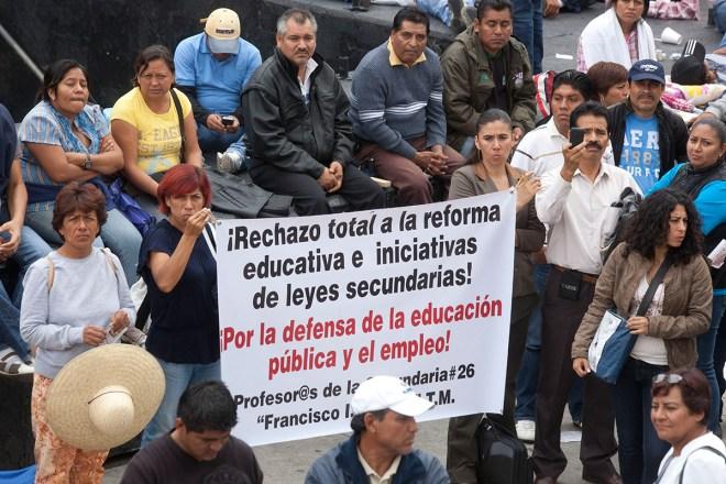 Maestros de la CNTE protestan en la Ciudad de México. Foto: Octavio Gómez