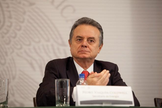El secretario de Energía Pedro Joaquín Coldwell. Foto: Miguel Dimayuga