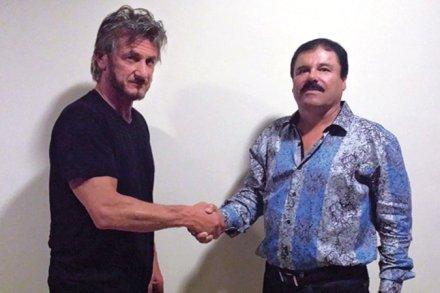 """El actor Sean Penn y Joaquín """"El Chapo"""" Guzmán. Foto: Rolling Stone"""