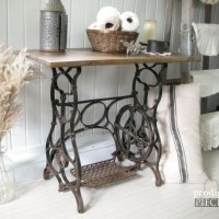 Reclaimed Sewing Machine Table ~ Themed Makeover