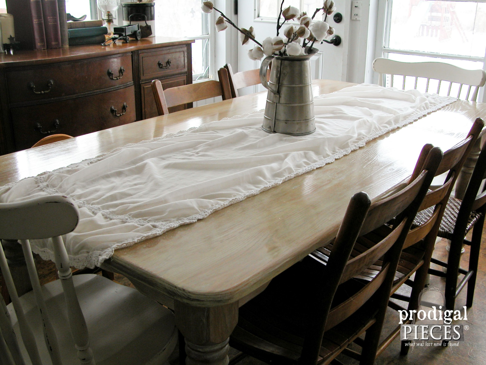 whitewashed limewashed wood whitewash kitchen table Corner View Whitewashed Limewashed Farmhouse Table by Prodigal Pieces www prodigalpieces