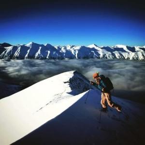 Brooke Edwards in Alaska's Chugach Mountains