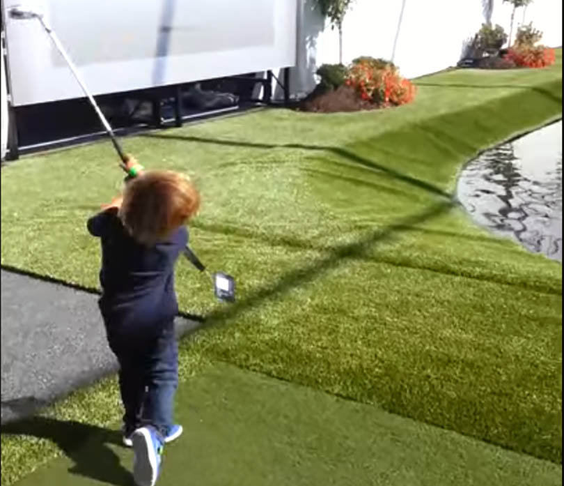 Charlie Woods, son of Tiger, even at 4 years-old (now 7) had a better swing than most of us.  Credit: Youtube