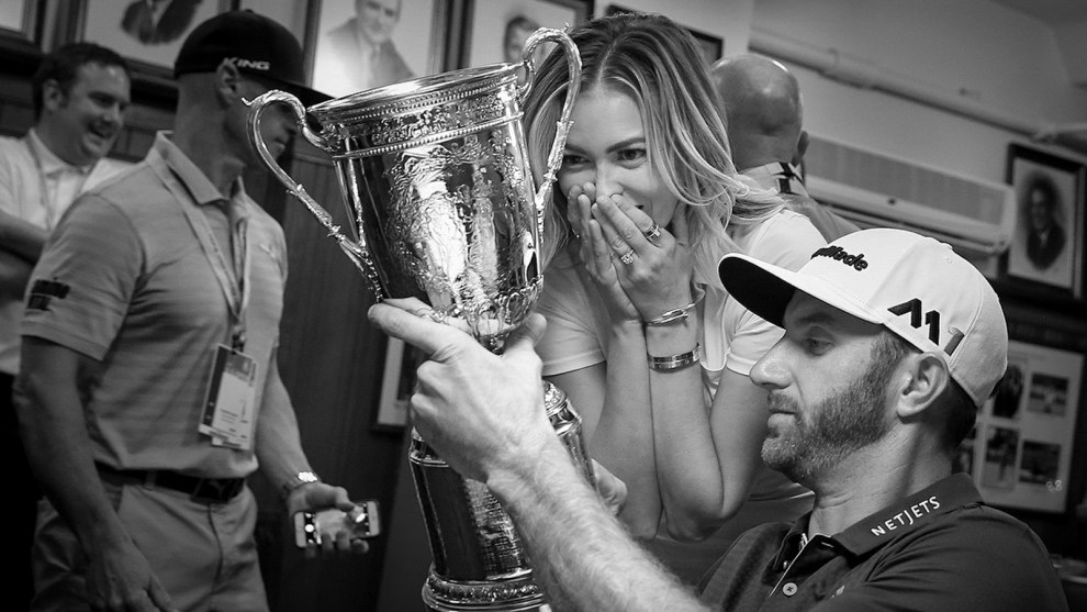 Forever a part of history: Dustin Johnson's name is inscribed on the U.S. Open Trophy. (Copyright USGA/Darren Carroll)