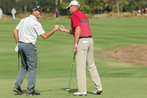 Steve Stricker & Jerry Kelly at the Franklin Templeton Shootout (Photo Credit: Michael O'Bryon)