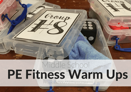 Middle School Fitness Warm Up, PE Warm Up, PE Fitness Activity