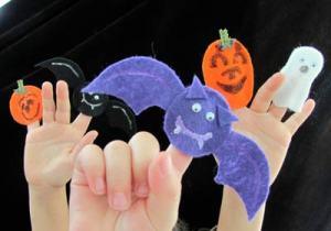 Halloween finger puppets