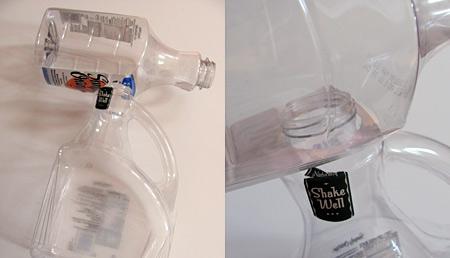 juice bottles for dinosaur T-rex