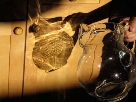 playing with shadows and glass - pitcher