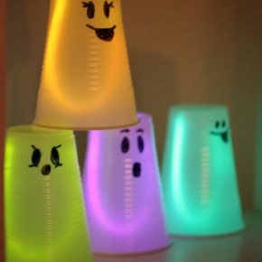 Cute glowing ghost for Halloween