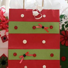 Decorate gift bags and make gift tags
