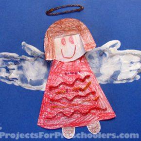 Handprint Angel Art
