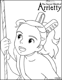 Arrietty Coloring Page