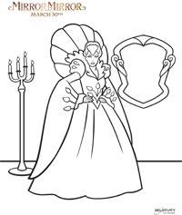Mirror Mirror evil queen coloring page
