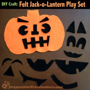 Make A Felt Pumpkin Jack-o-Lantern Face Play Set