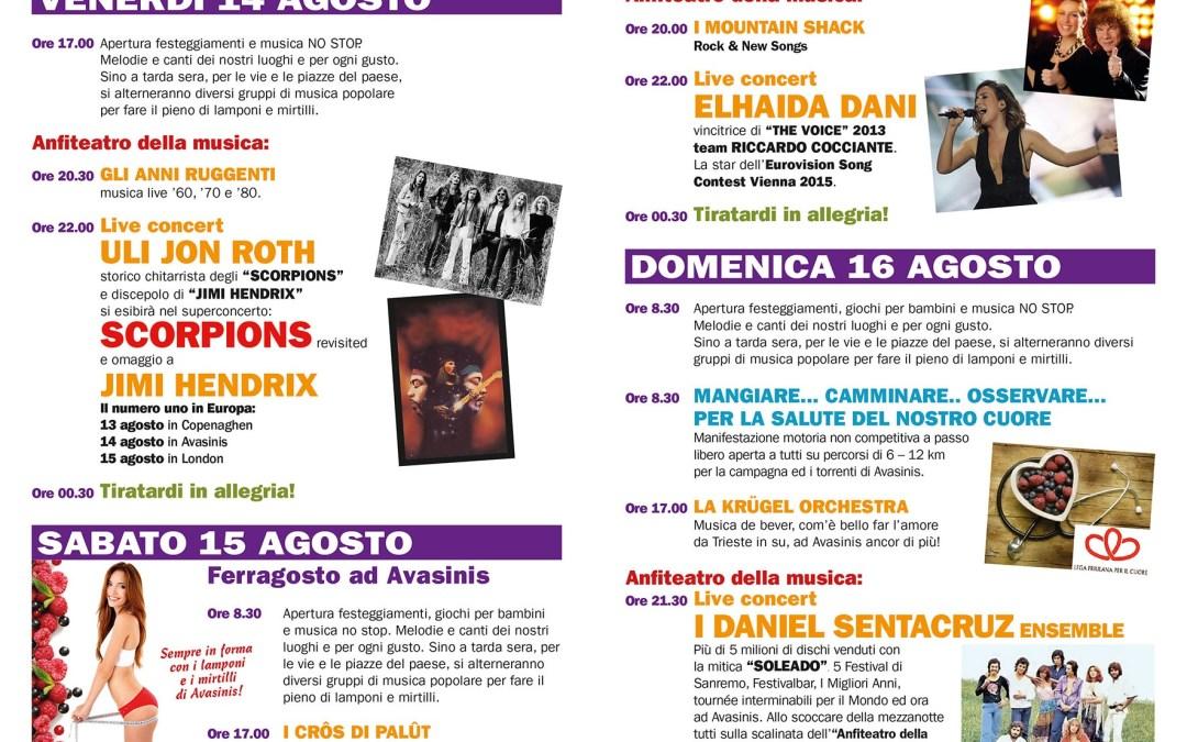 Il Programma della festa 2015