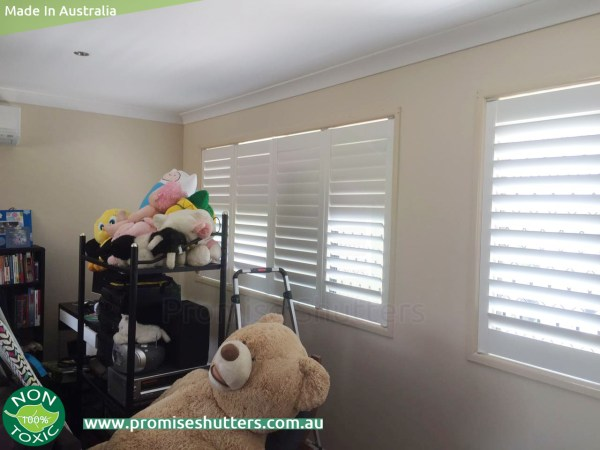 Vinyl plantation shutters install inside mount