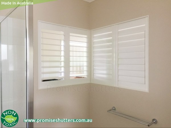 Fixed panels of the solid Vinyl shutters