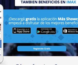 Showcase sigue con el 2 x 1 en su aplicación para smartphones
