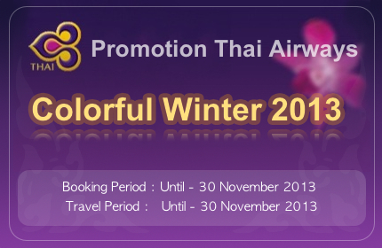 Promotion Thai Airways Colorful Winter 2013